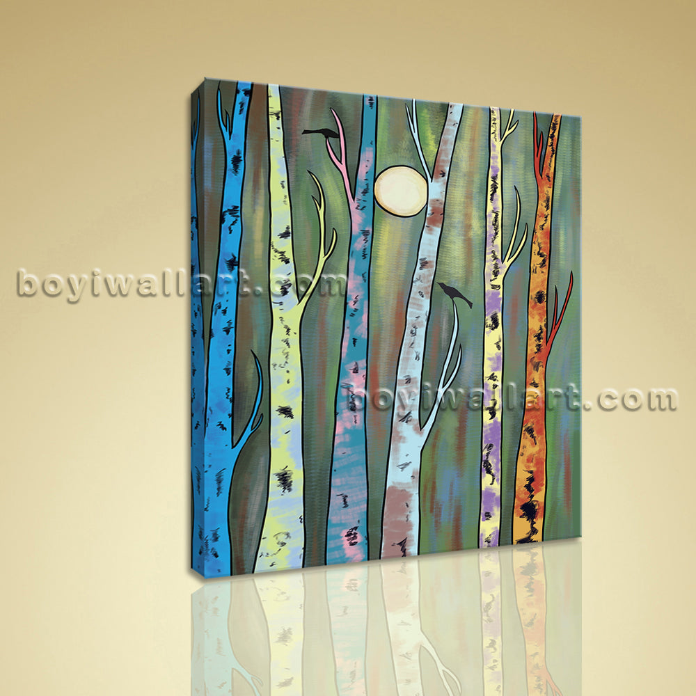 Contemporary Abstract Landscape Painting HD Print Canvas Wall Art Home Decor
