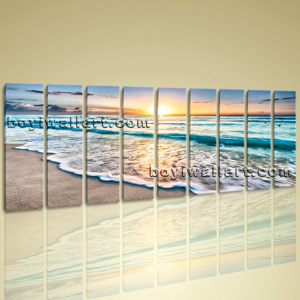 Huge High Quality Giclee Prints On Canvas Contemporary Landscape Beach Ocean