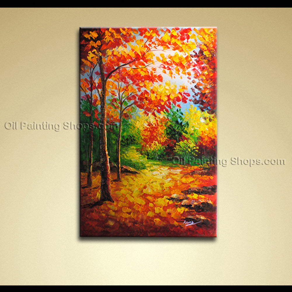 Stunning Contemporary Wall Art Landscape Painting Forest Ready To Hang