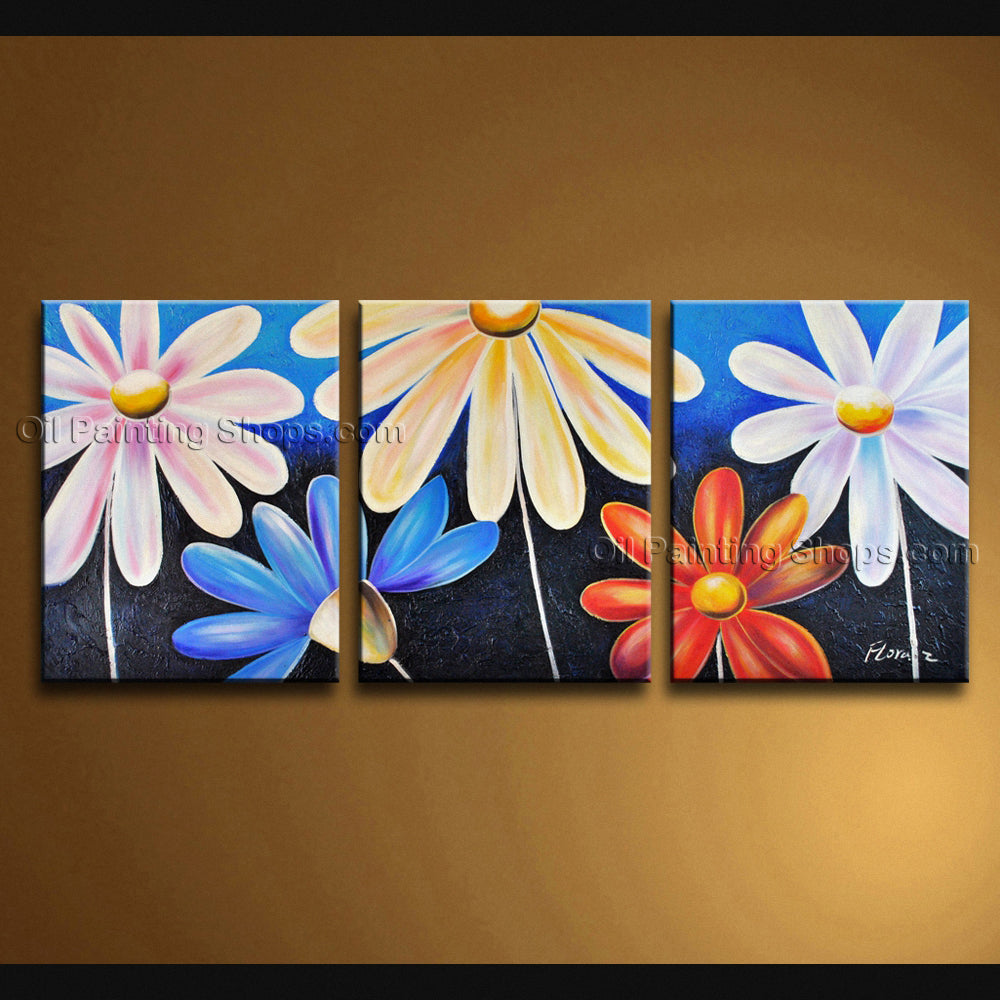 Stunning Contemporary Wall Art Floral Painting Egg Flower Paintings