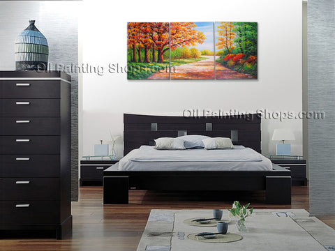 Stunning Contemporary Wall Art Landscape Painting Road Canvas Wart