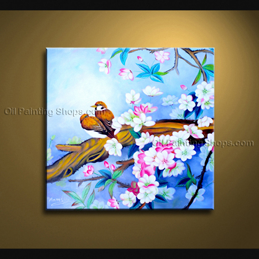 Hand Painted Elegant Contemporary Wall Art Floral Painting Flowers Artwork