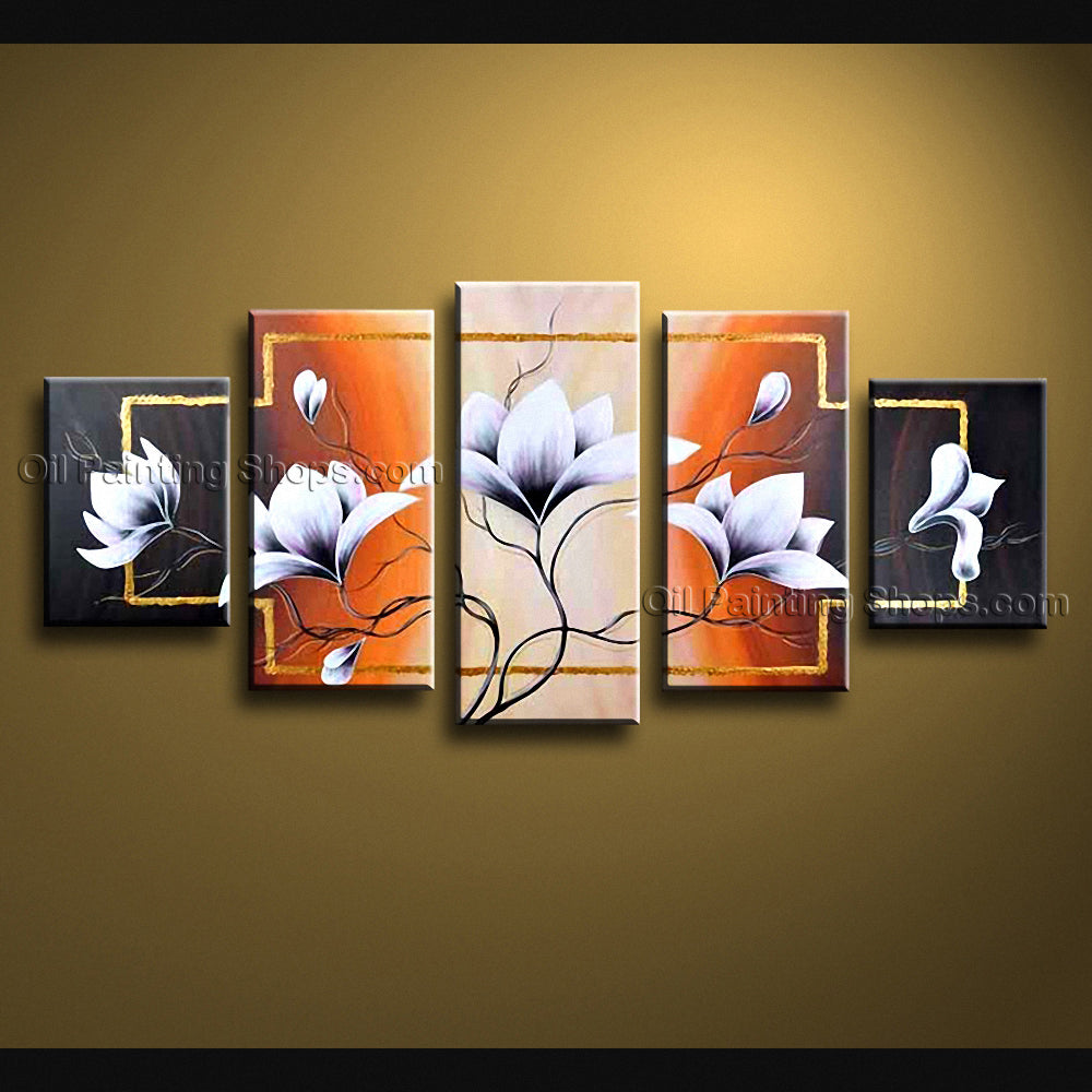 Large Contemporary Wall Art Floral Painting Tulip Flower Paintings
