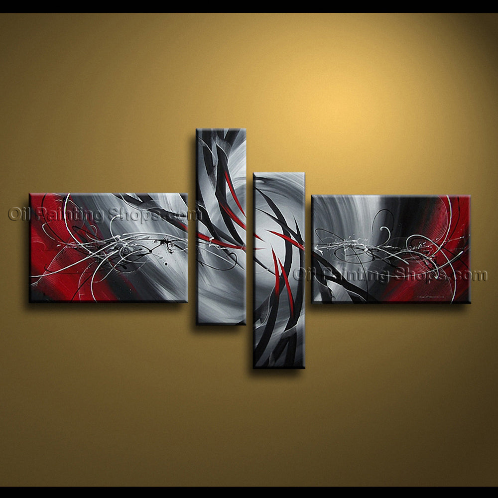 Handmade Artcrafts Large Modern Abstract Painting Wall Art Oil On Canvas