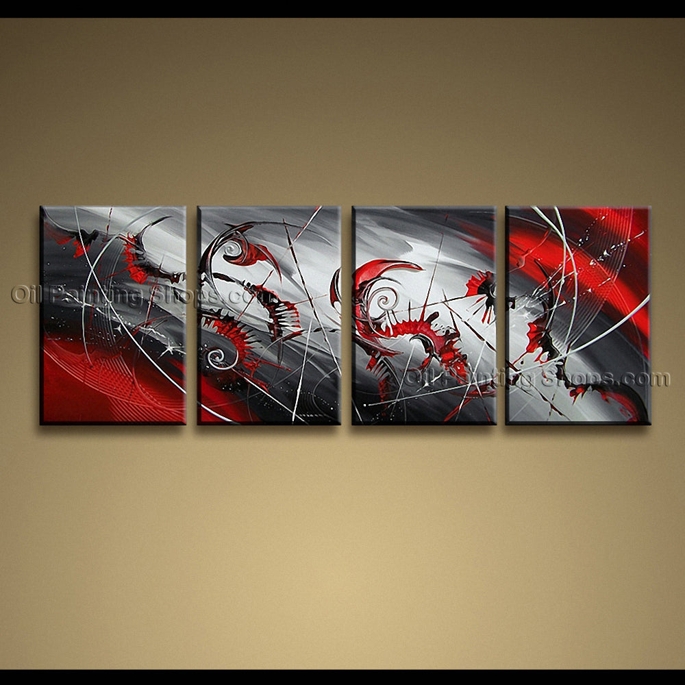 Hand-painted Large Modern Abstract Painting Wall Art Inner Framed