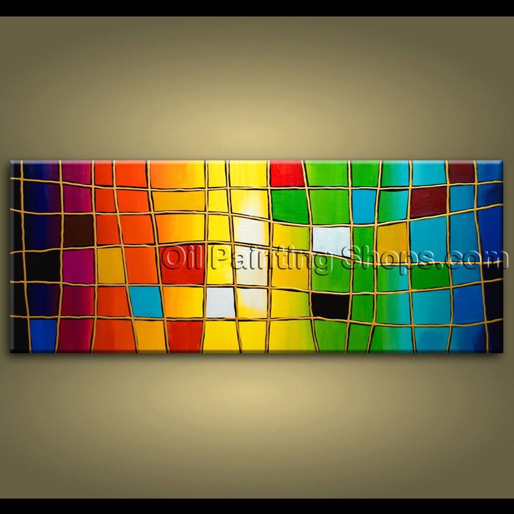 original one of a kind abstract painting on canvas extra large wall art signed
