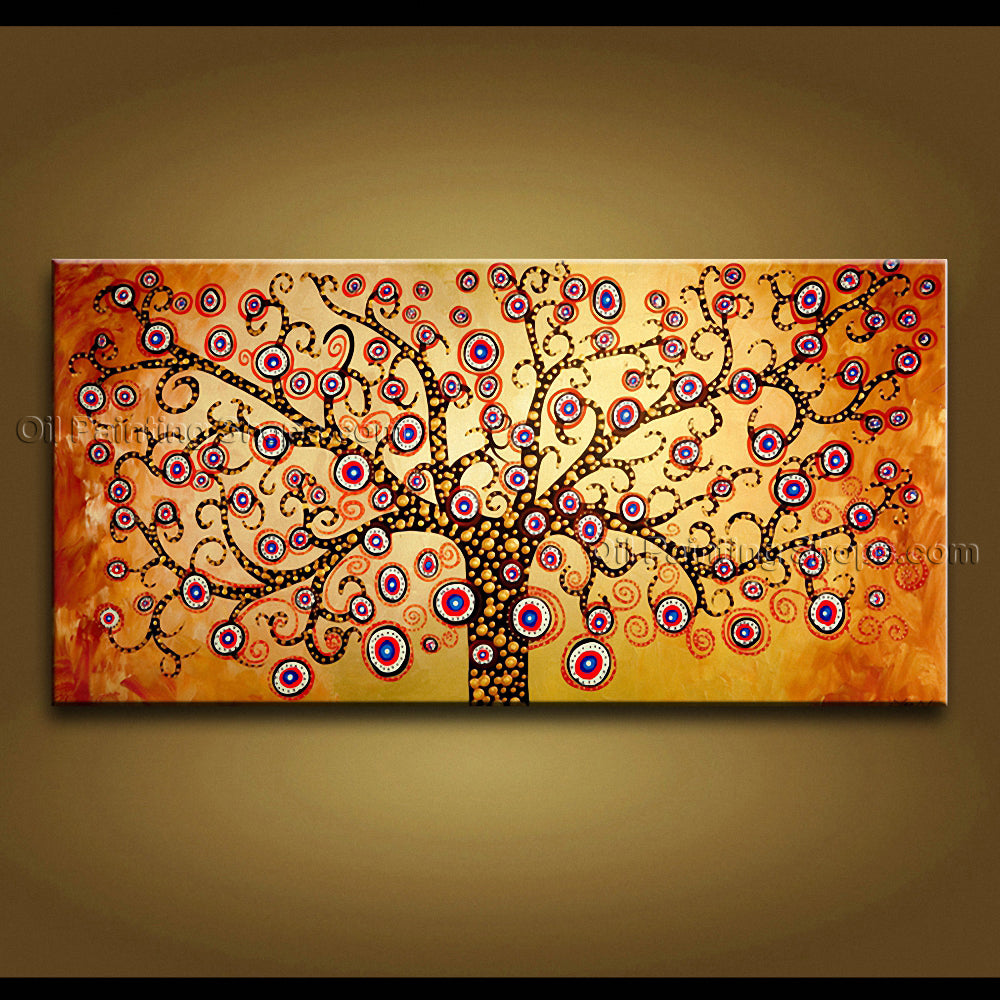 Stunning Contemporary Wall Art Landscape Painting Tree On Canvas Artworks