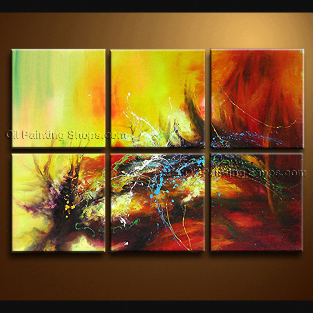 Hand-painted Huge Modern Abstract Painting Wall Art Artwork Pictures ...