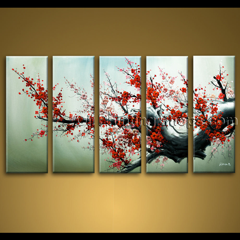 extra large wall art hand painted abstract floral oil painting canvas original