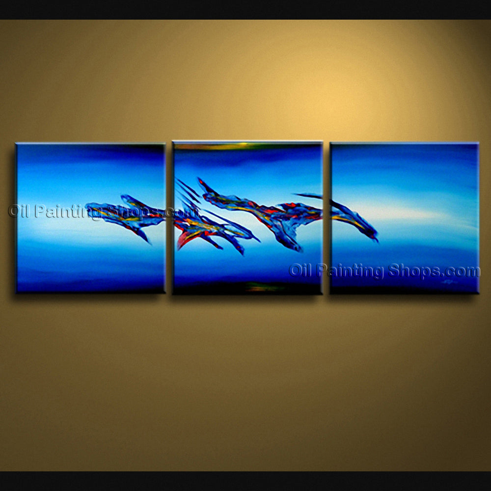 Handmade Elegant Modern Abstract Painting Wall Art Sci-fi Oil On Canvas