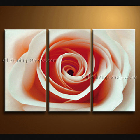 Elegant Contemporary Wall Art Floral Painting Rose Flower Paintings
