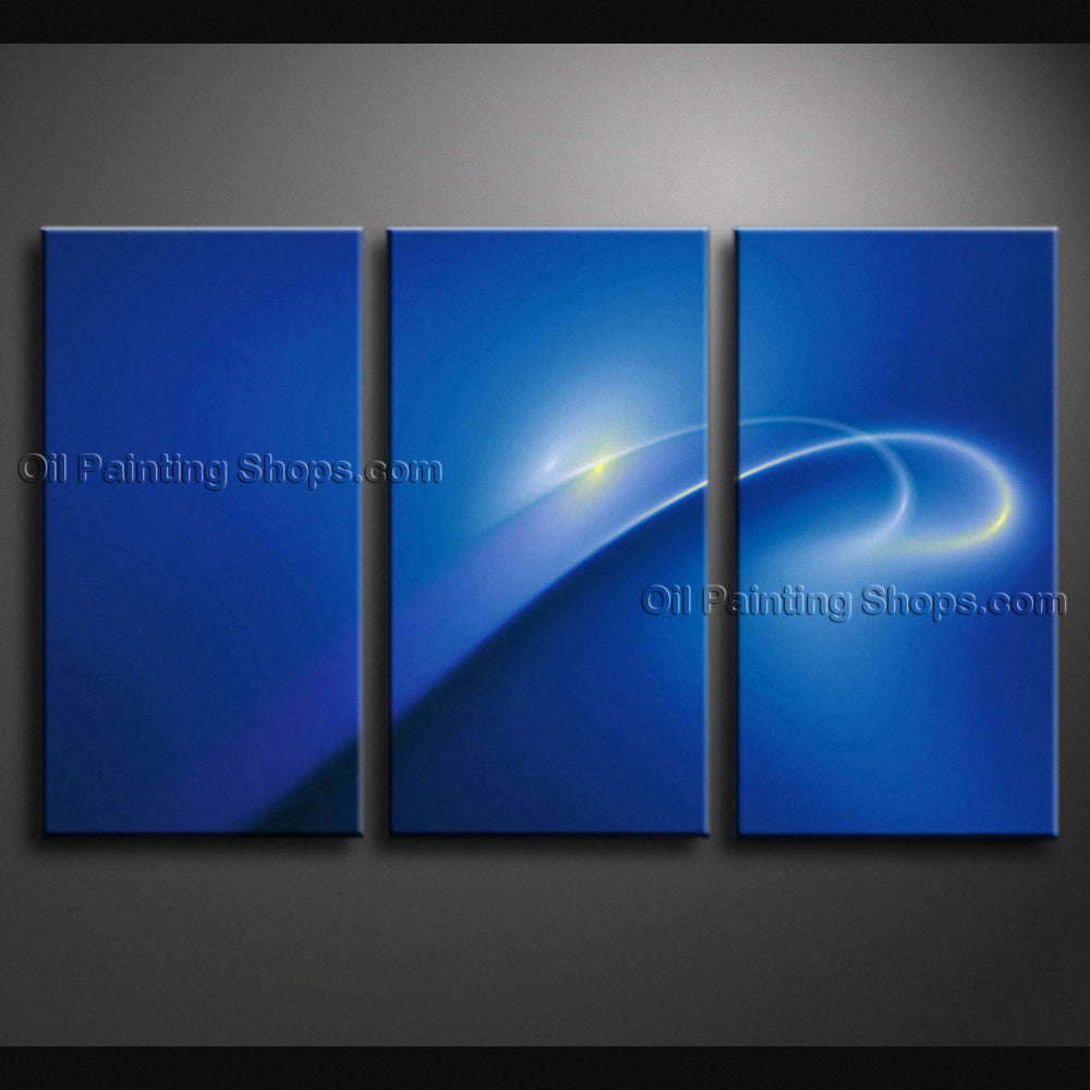 Handmade Stunning Modern Abstract Painting Wall Art Sci-fi Oil On Canvas