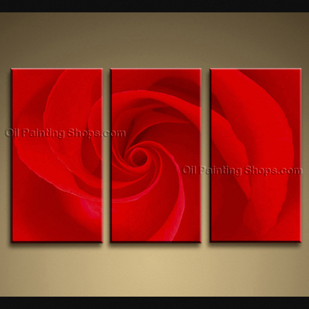 Elegant Contemporary Wall Art Floral Painting Rose Decoration Ideas