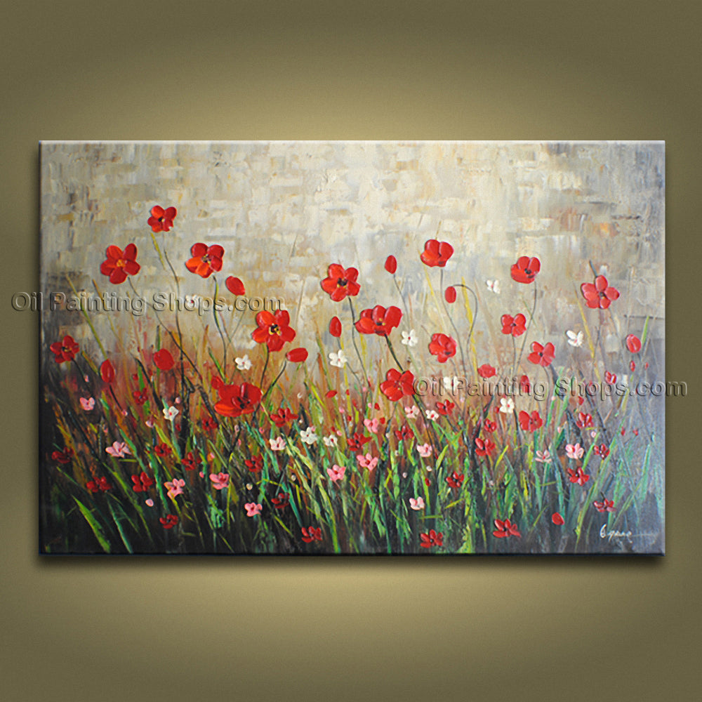Handmade Beautiful Contemporary Wall Art Floral Painting Decoration Ideas