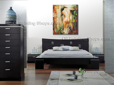 Hand-painted Stunning Modern Abstract Painting Wall Art Nude Oil On Canvas