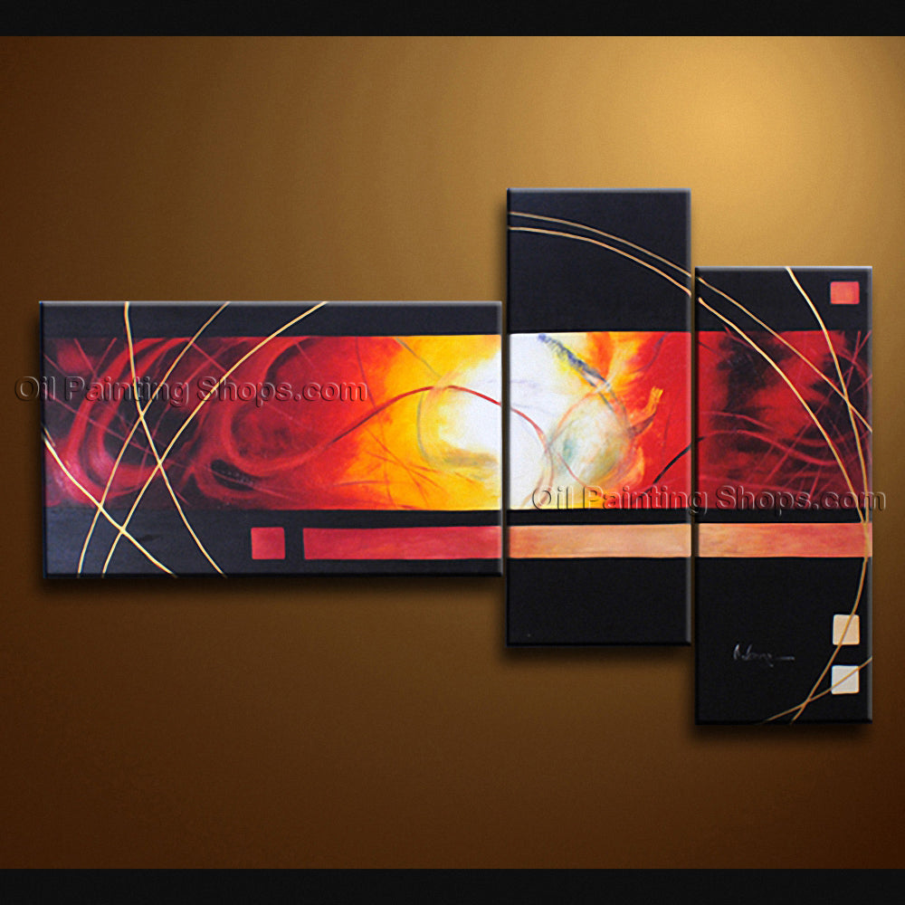 Hand Painted Beautiful Modern Abstract Painting Wall Art Decoration Ideas