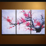 Stunning Contemporary Wall Art Floral Plum Blossom Interior Design