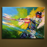 Handmade Beautiful Modern Abstract Painting Wall Art Sport Oil On Canvas