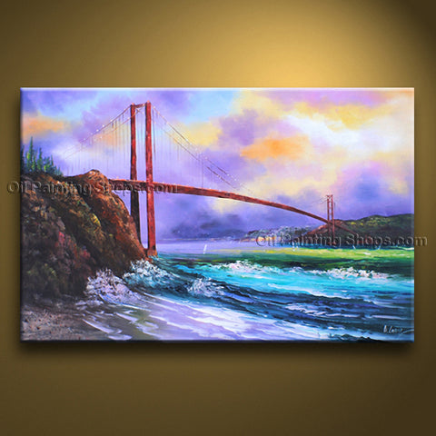 Astonishing Contemporary Wall Art Landscape Cityscape Oil On Canvas