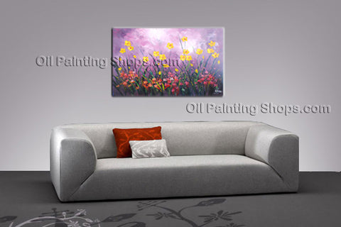 Stunning Contemporary Wall Art Floral Painting Poppy Flower On Canvas