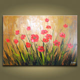 Astonishing Contemporary Wall Art Floral Painting Poppy Flower Paintings