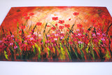 Beautiful Contemporary Wall Art Floral Painting Poppy Flower Oil Canvas