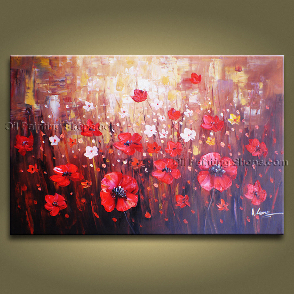 Amazing contemporary wall art floral painting poppy flower oil amazing contemporary wall art floral painting poppy flower oil canvas mightylinksfo