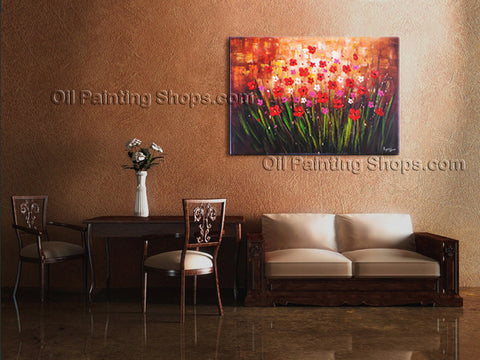 Handmade Elegant Contemporary Wall Art Landscape Painting Interior Design