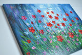 Elegant Contemporary Wall Art Floral Painting Daisy Flower Oil Canvas