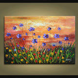 Beautiful Contemporary Wall Art Floral Painting Daisy Decoration Ideas