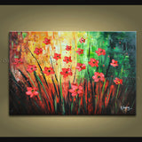 Elegant Contemporary Wall Art Floral Painting Daisy Flower On Canvas