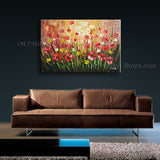 Astonishing Contemporary Wall Art Floral Painting Daisy Flower Paintings