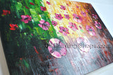 Amazing Contemporary Wall Art Floral Painting Poppy Flower Oil Canvas
