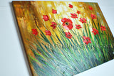 Beautiful Contemporary Wall Art Floral Painting Daisy Flower On Canvas