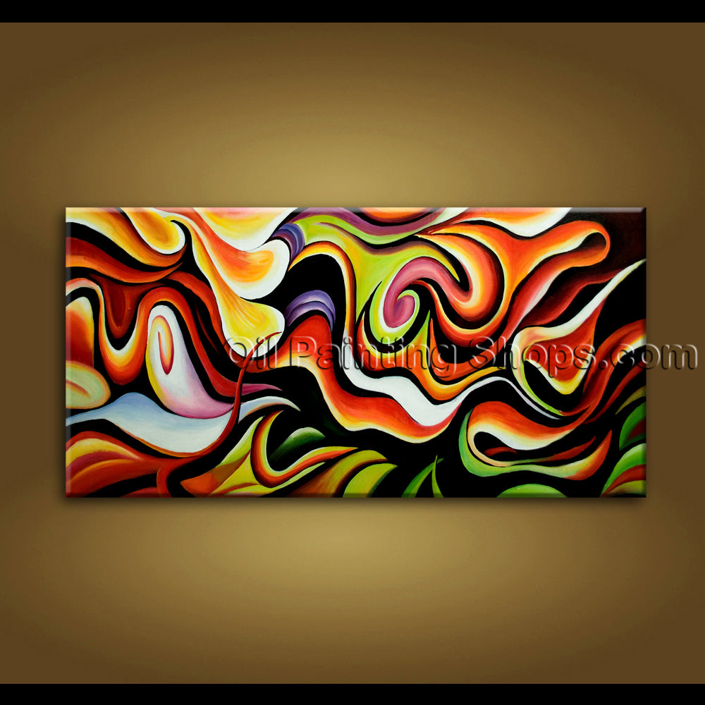 original unique hand painted oil painting on canvas modern abstract wall art