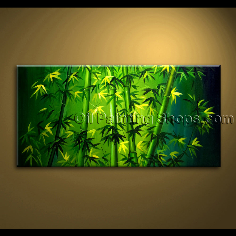 original abstract feng shui painting oil on canvas bamboo unique zen art large
