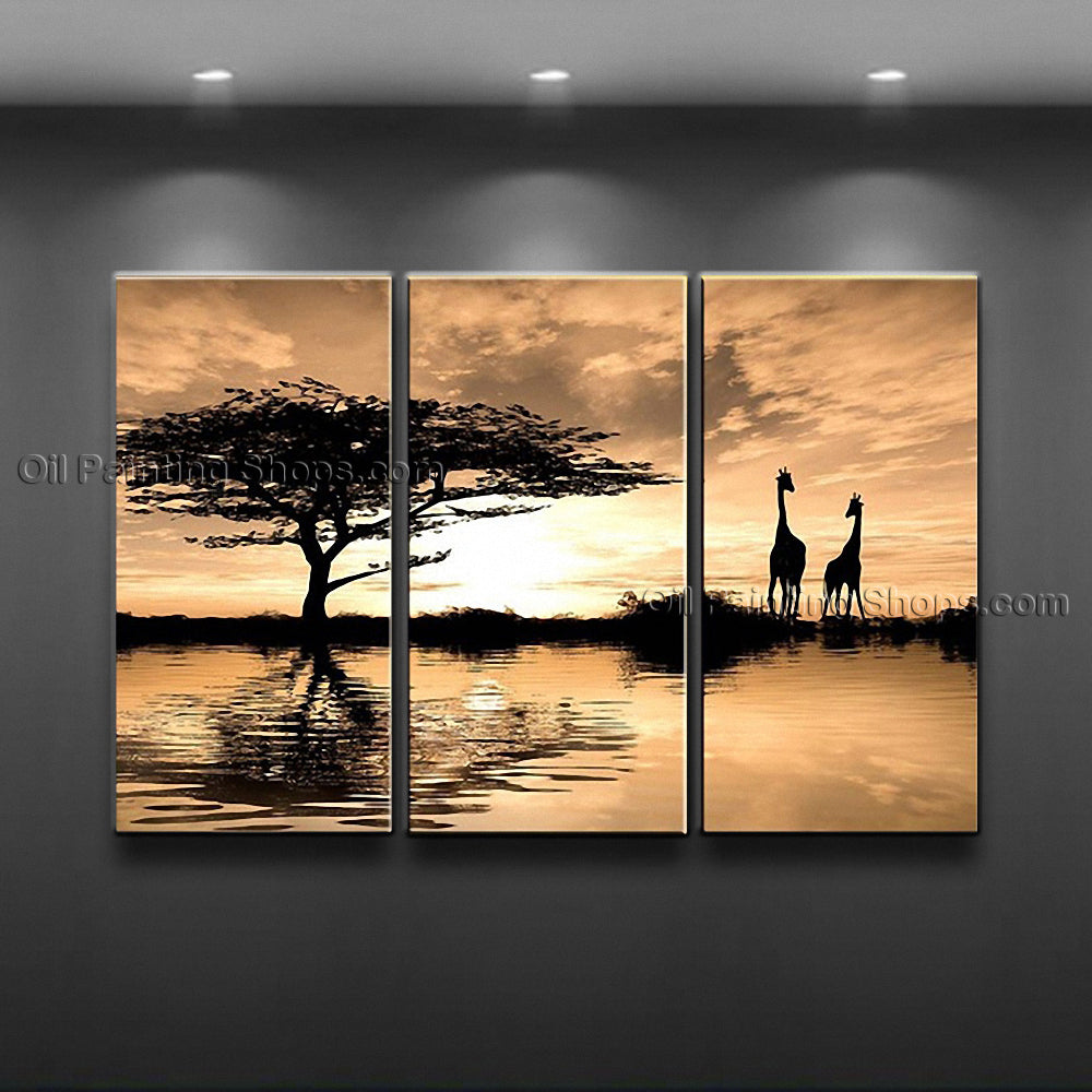 Elegant Contemporary Wall Art Landscape Painting Tree Contemporary Decor