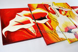 Large Contemporary Wall Art Floral Painting Lily Flower Paintings
