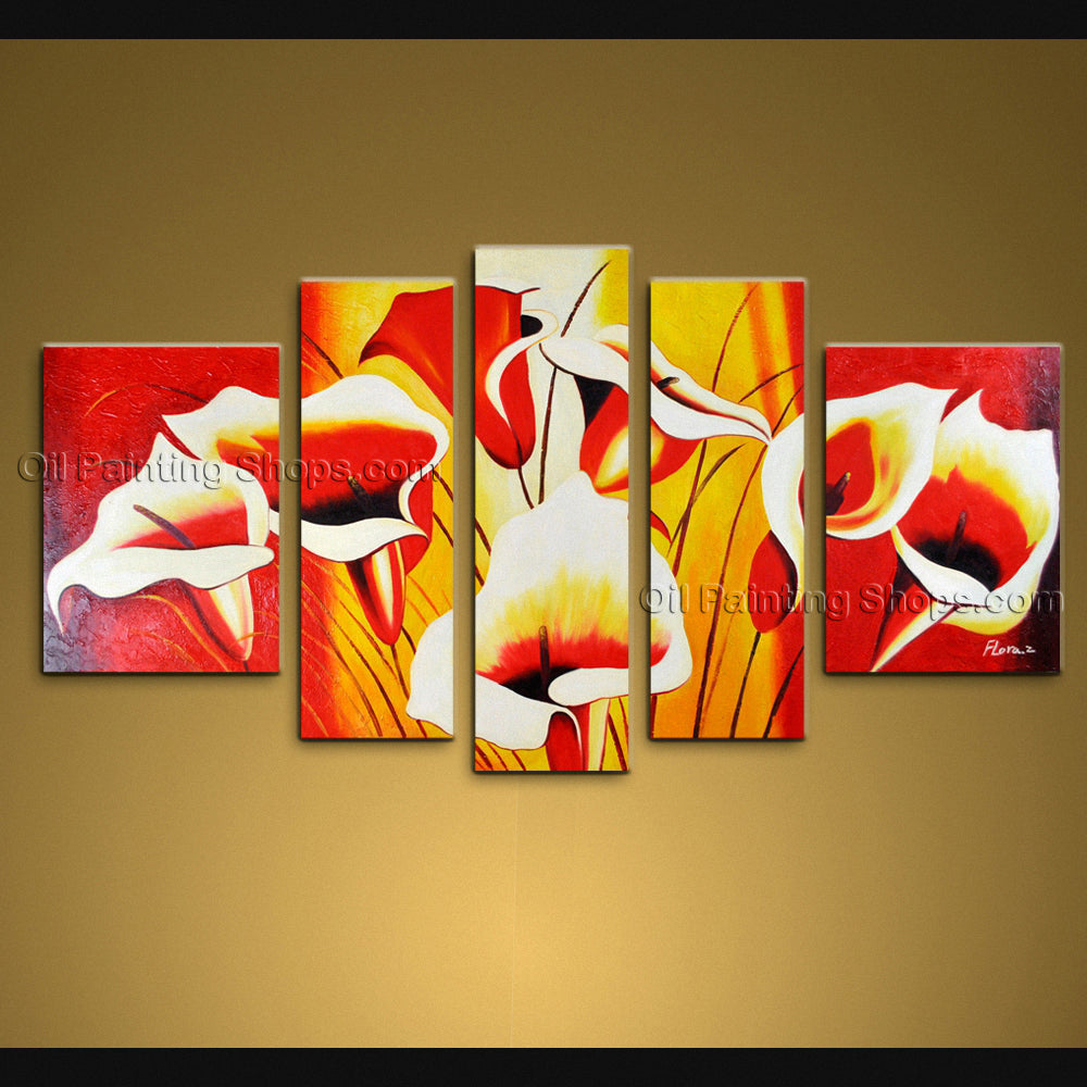 Large Contemporary Wall Art Floral Painting Lily Flower Paintings ...