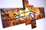 Hand Painted Tetraptych Modern Abstract Painting Wall Art Artist Artworks