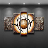 Handmade 4 Pieces Modern Abstract Painting Wall Art Figure Gallery Wrapped