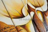 Tetraptych Contemporary Wall Art Floral Painting Lily Decoration Ideas