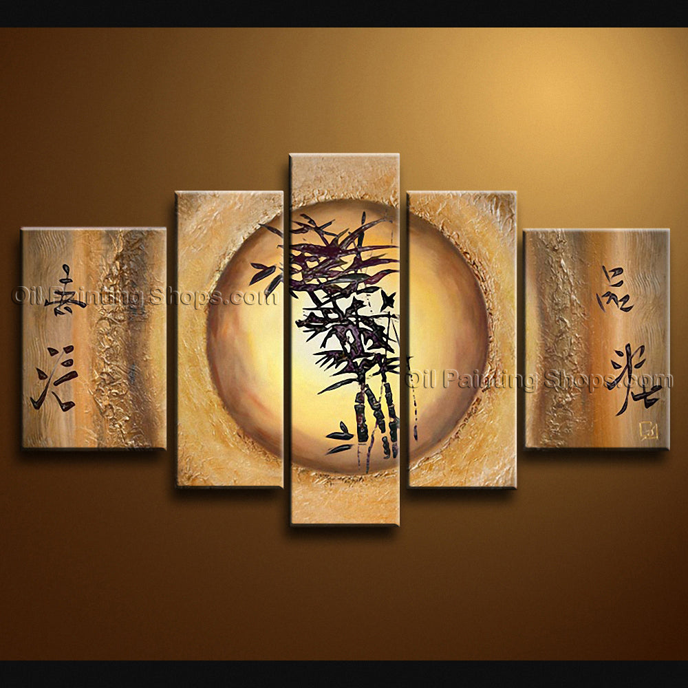 Hand-painted Pentaptych Modern Abstract Painting Wall Art Ready To Hang