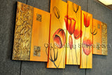 5 Pieces Contemporary Wall Art Floral Painting Tulip Decoration Ideas