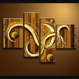 Hand Painted 4 Pieces Modern Abstract Painting Wall Art Ready To Hang