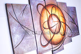 Handmade Artcrafts Large Modern Abstract Painting Wall Art Inner Framed