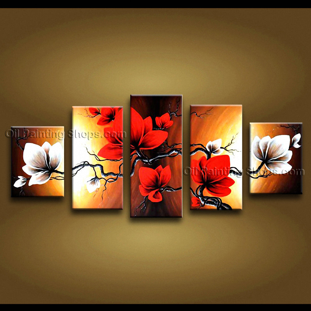 Large Contemporary Wall Art Floral Painting Tulip Flower Gallery Wrapped