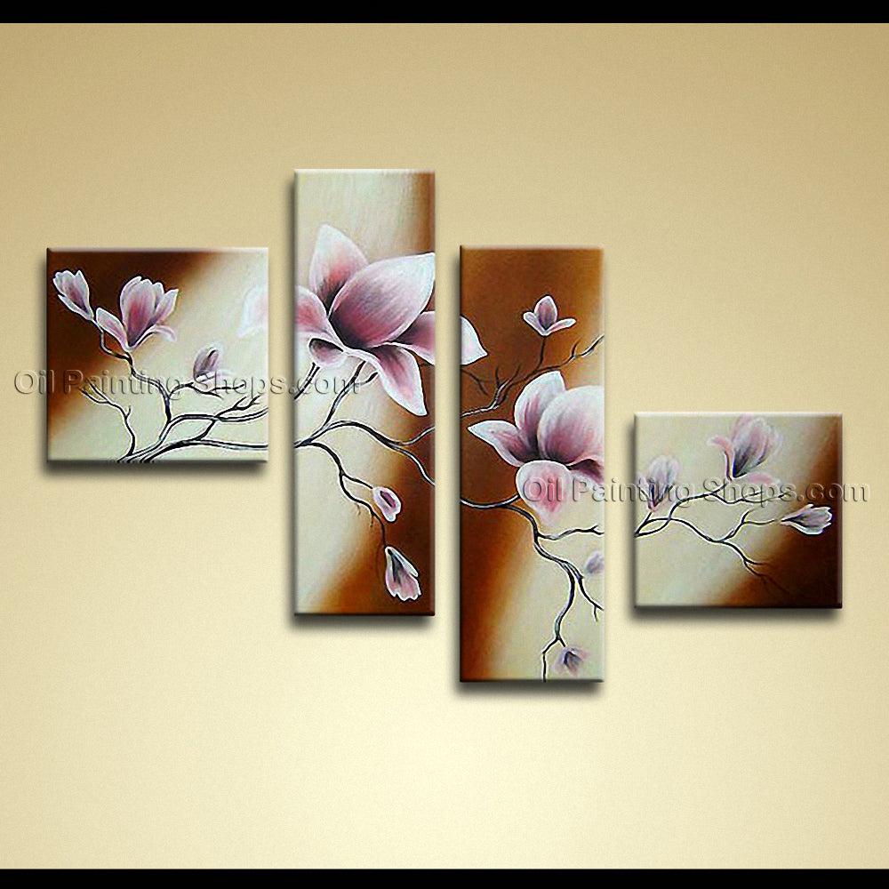 Large Contemporary Wall Art Floral Painting Tulip Flower Inner Framed