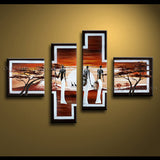 4 Pieces Modern Abstract Painting Wall Art Figure Artwork Pictures