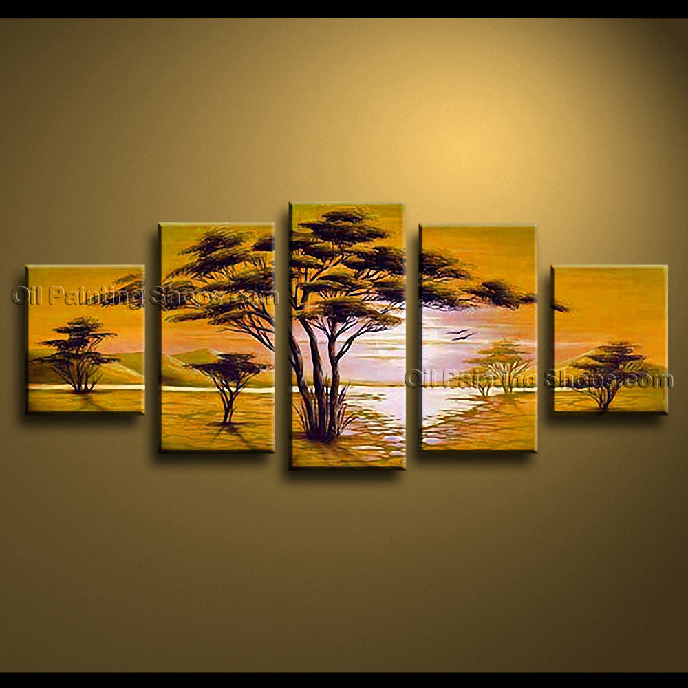 Handmade Large Contemporary Wall Art Landscape Painting Artwork Pictures